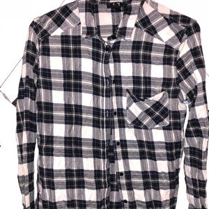 Paige navy & white flannel shirt
